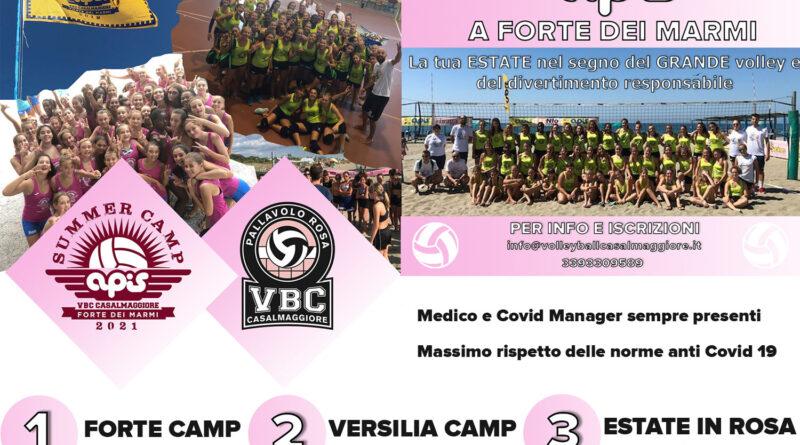 VOLLEY: ECCO I CAMP VBC APIS! LA VOSTRA ESTATE IN ROSA